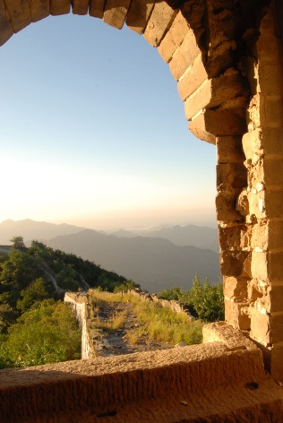 View from a tower on the Great Wall - early morning