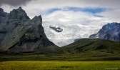 Mountains and glacier
