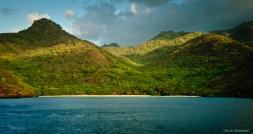 South pacific beach on Tahuata
