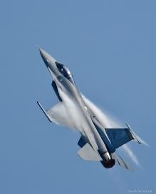 F-15 climbing