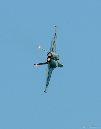 F-18 tail lights and afterburners