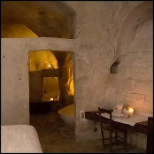 Hotel room in a cave