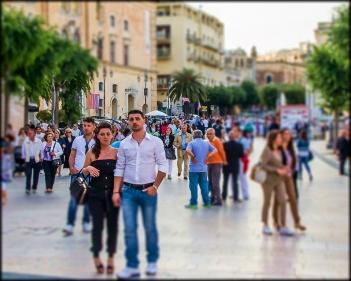 Evening Street Scene in Matera