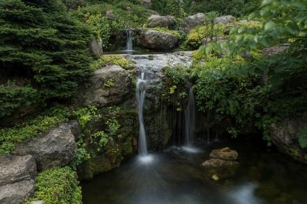 Water falls in the Rock Garden